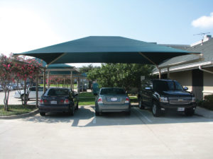 dual column cantilever commercial shade structure 1