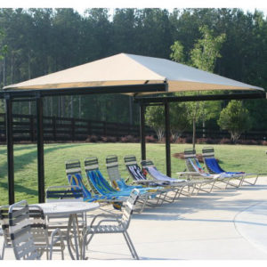 dual column cantilever commercial shade structure 2