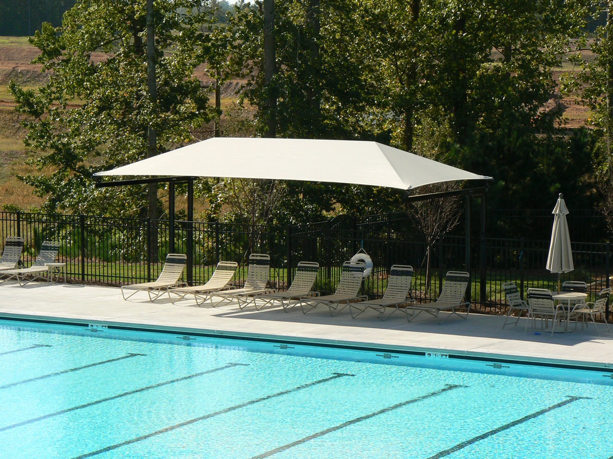 Rectangle Dual Column Cantilever Shade Structure Pro