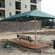 Dual Column Rectangle Shade Structure