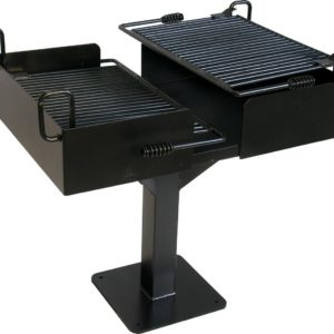 Dual Grate Cantilever Campfire Grill
