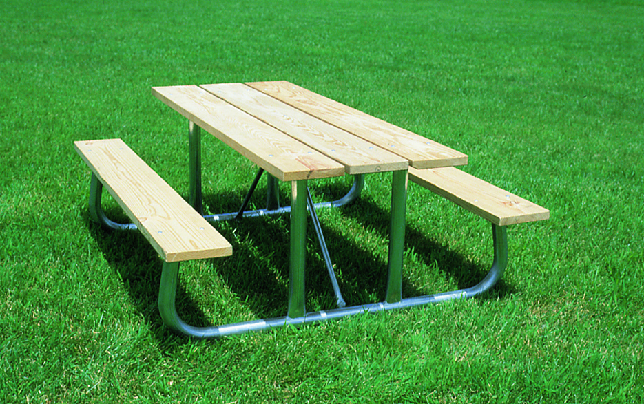 Heavy Duty Aluminum Picnic Table Pro Playgrounds The