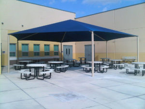 hexagon commercial shade structure 2