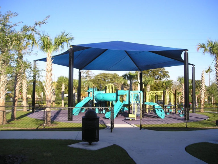 hexagon commercial shade structure 3