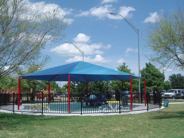 hexagon commercial shade structure 4