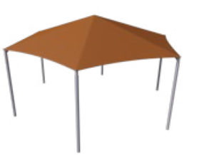 hexagon commercial shade structure 5