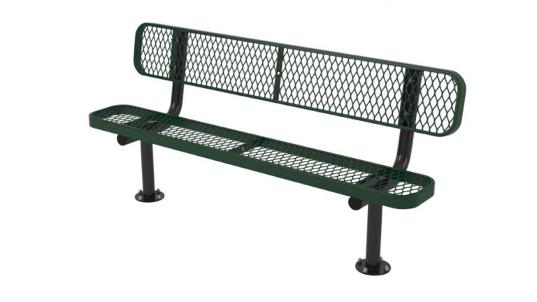 l series bench with back surface