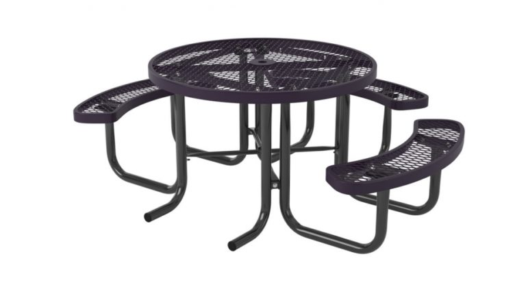 l series round picnic table ada