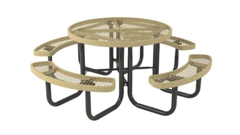 l series round picnic table standard