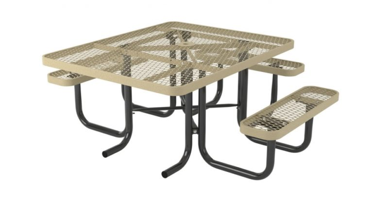 l series square picnic table ada