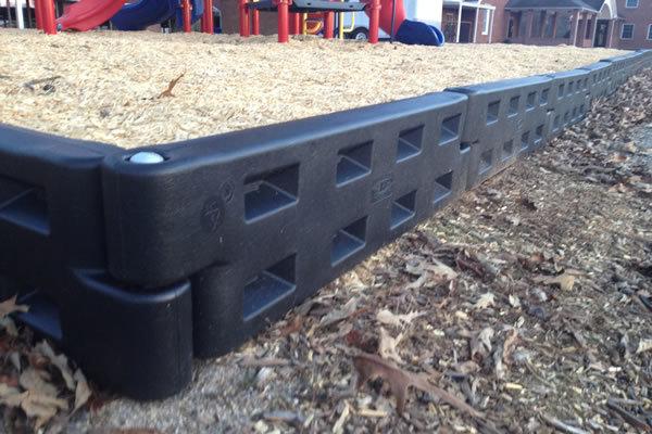 Playground Border Timbers Plastic 4 Pro Playgrounds