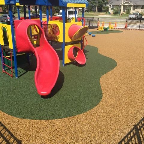 Poured In Place Rubber Playground Surfacing Pro