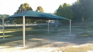 rectangle commercial shade structure 11