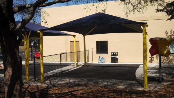 rectangle commercial shade structure 8