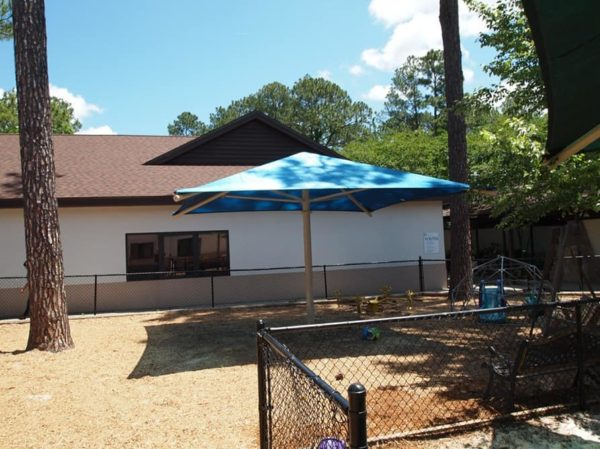 single column square commercial shade structure 5
