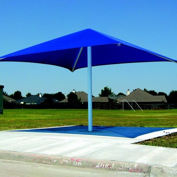 single column square commercial shade structure 6
