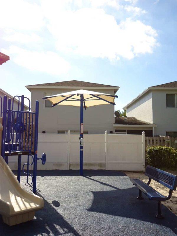 single column umbrella commercial shade structure 2