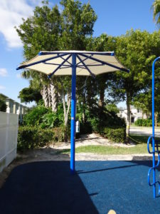 single column umbrella commercial shade structure 3