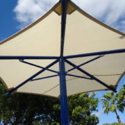 Single Column Umbrella Shade Structure