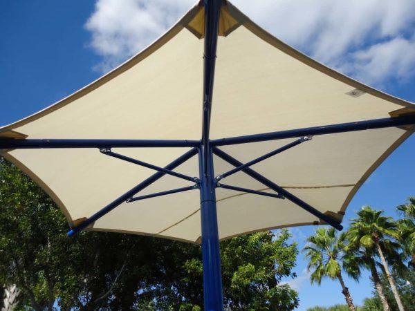 single column umbrella commercial shade structure 4