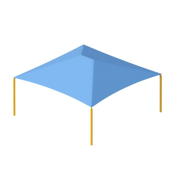 square commercial shade structure 10