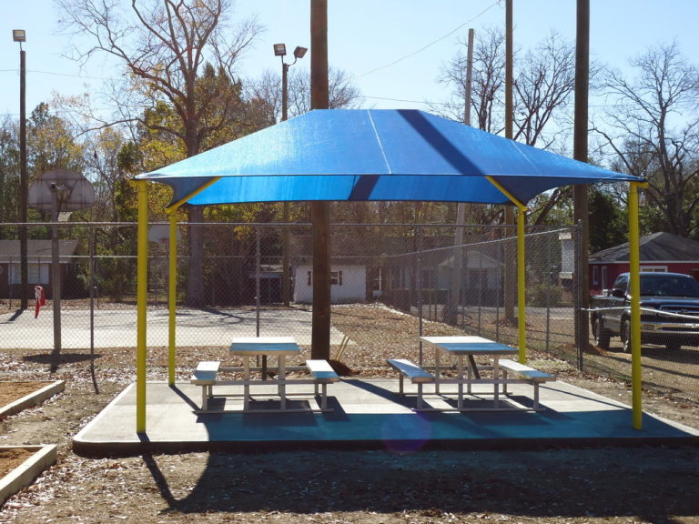 square commercial shade structure 2