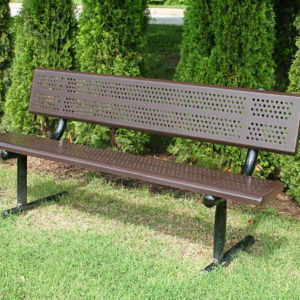 Standard Park Bench With Back