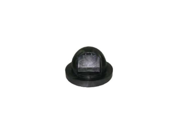 trash receptacle dome top plastic black