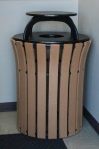 33 gallon flare top round trash receptacle 2