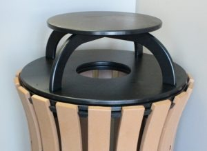 33 gallon flare top round trash receptacle 3