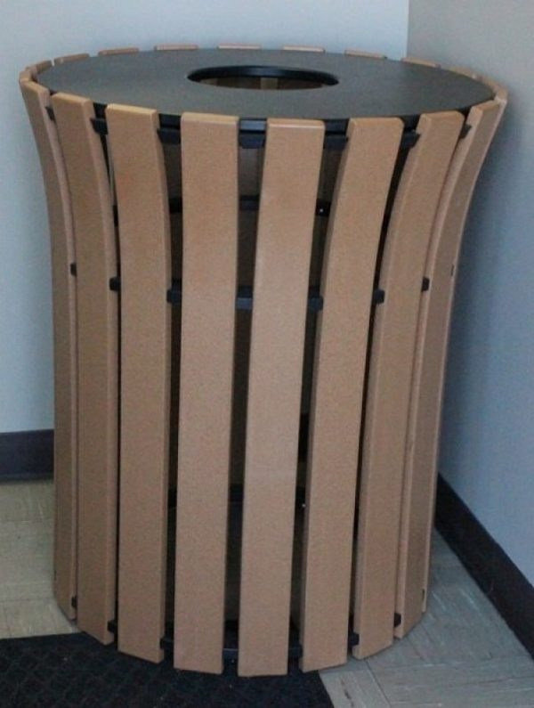 33 gallon flare top round trash receptacle 4