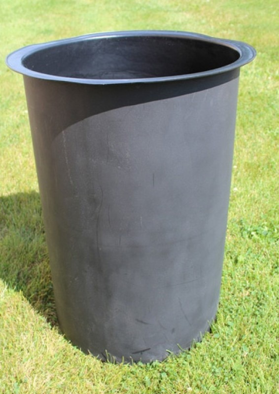 33 gallon round recycled plastic trash receptacle 11