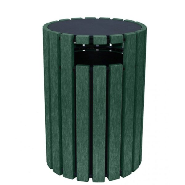 33 gallon round recycled plastic trash receptacle 4