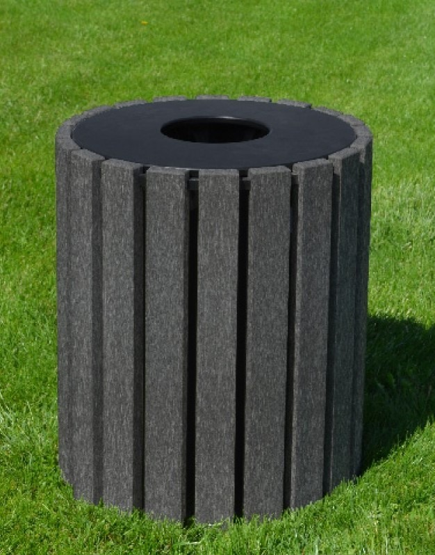 33 gallon round recycled plastic trash receptacle 5
