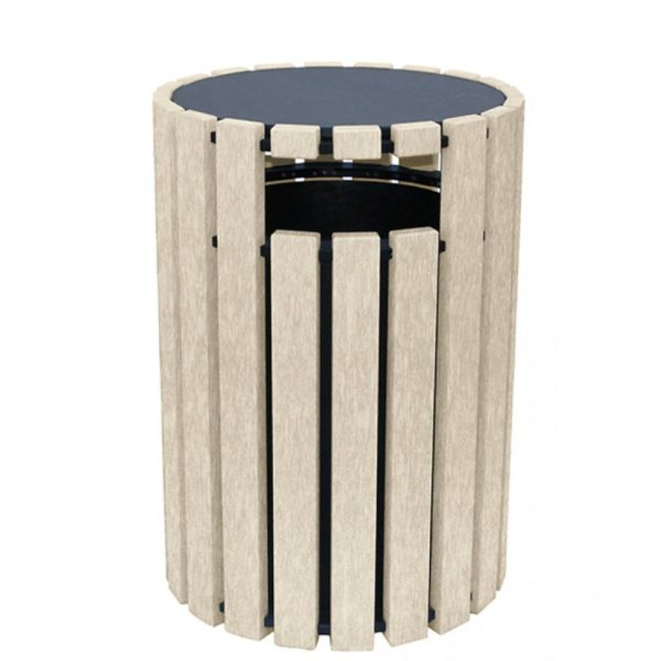 33 gallon round recycled plastic trash receptacle 6