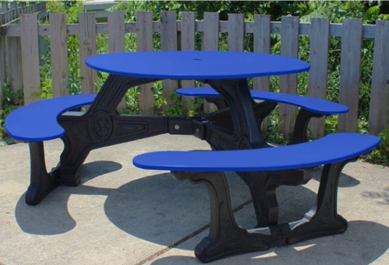 bodega round recycled plastic picnic table 10