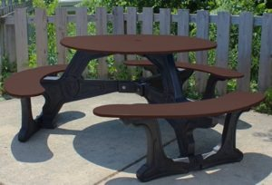 bodega round recycled plastic picnic table 11