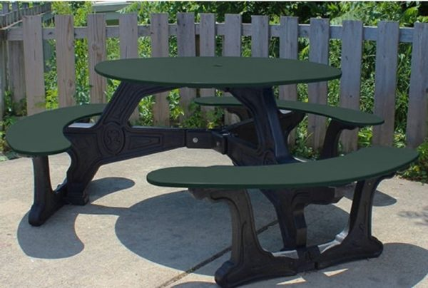 bodega round recycled plastic picnic table 12