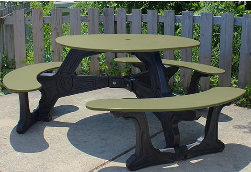 bodega round recycled plastic picnic table 4