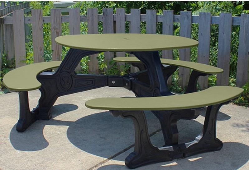 Bodega Recycled Plastic Picnic Table Pro Playgrounds The Play - Recycled plastic round picnic table