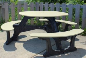 bodega round recycled plastic picnic table 5