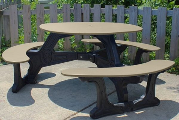 bodega round recycled plastic picnic table 6