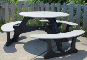 bodega round recycled plastic picnic table 7