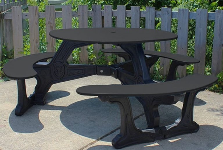 bodega round recycled plastic picnic table 9