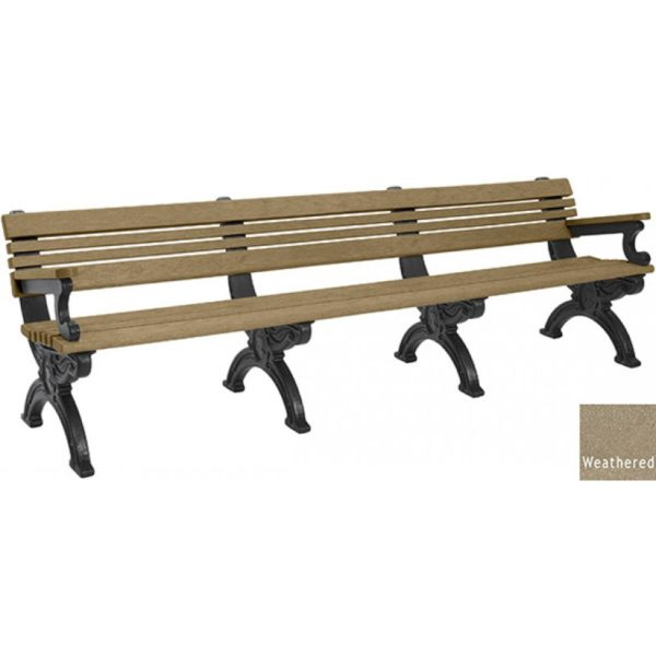 cambridge recycled bench with arms 10
