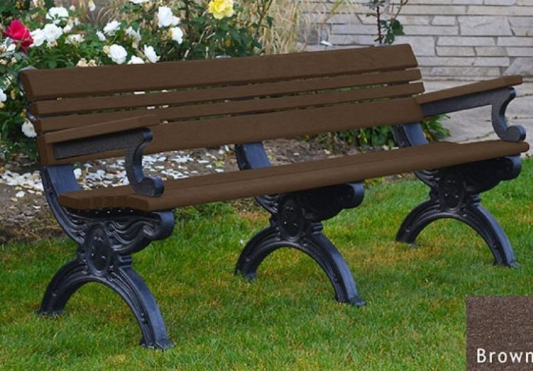 cambridge recycled bench with arms 11