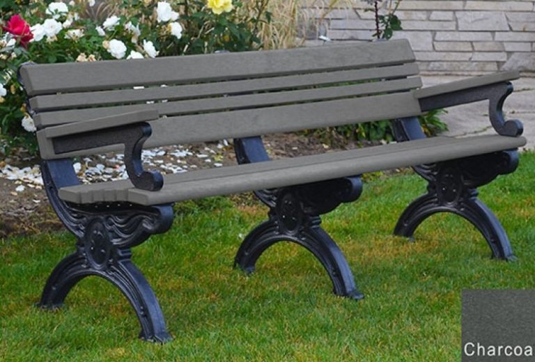 cambridge recycled bench with arms 13