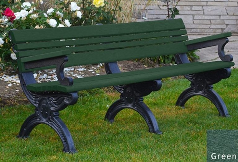 cambridge recycled bench with arms 14