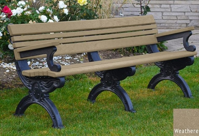 cambridge recycled bench with arms 3