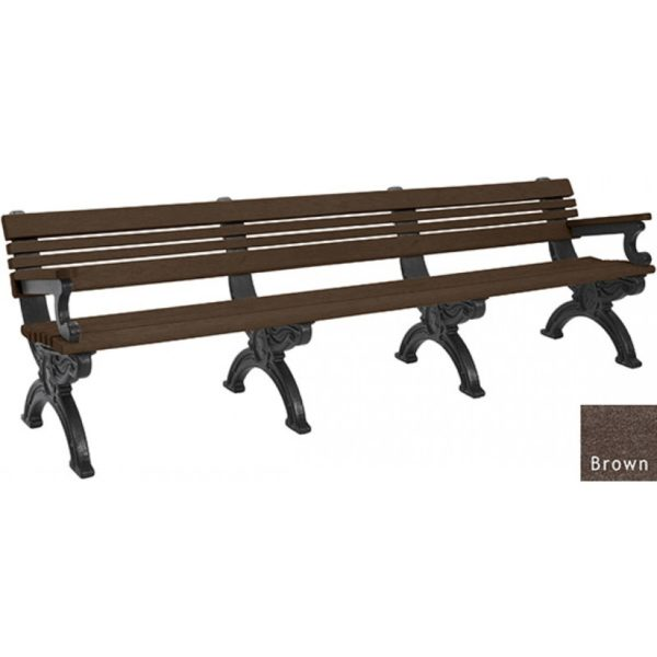 cambridge recycled bench with arms 4